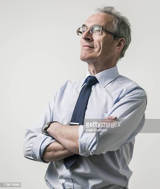 Confident elderly business man