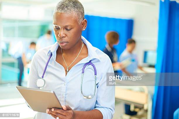 confident female hospital doctor