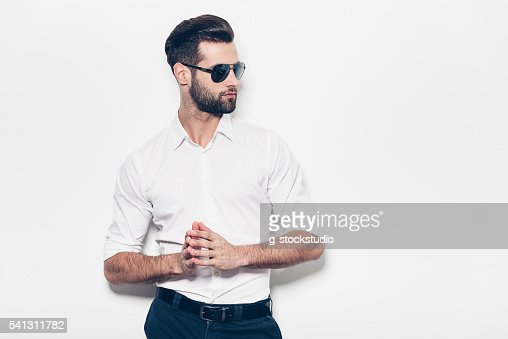 Confident in his style. : Stock Photo