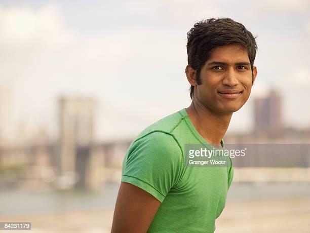 Confident Indian man smiling