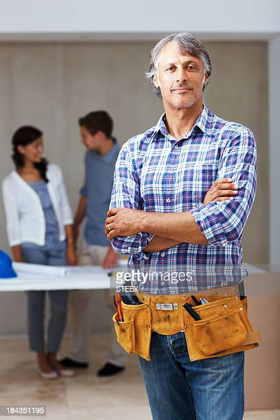 Confident male contractor