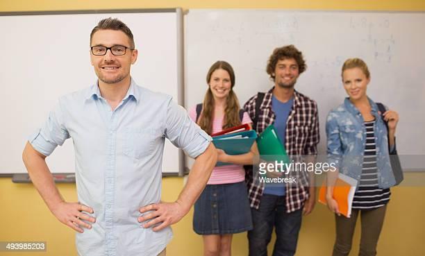 Aluno professor confiante