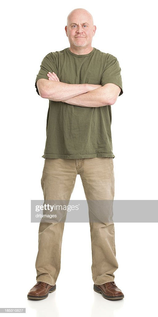 Confident Mature Man Full Length Portrait