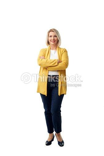 Confident mature woman portrait : Foto de stock