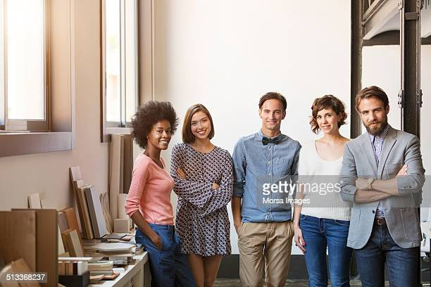 Confident multi-ethnic business people in office