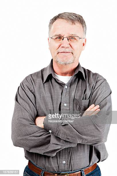 Confident senior man with arms crossed