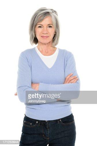 Zuversichtlich Senior Frau