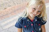 confident smiling girl
