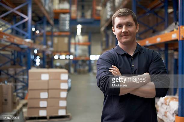 Confident supervisor in a warehouse