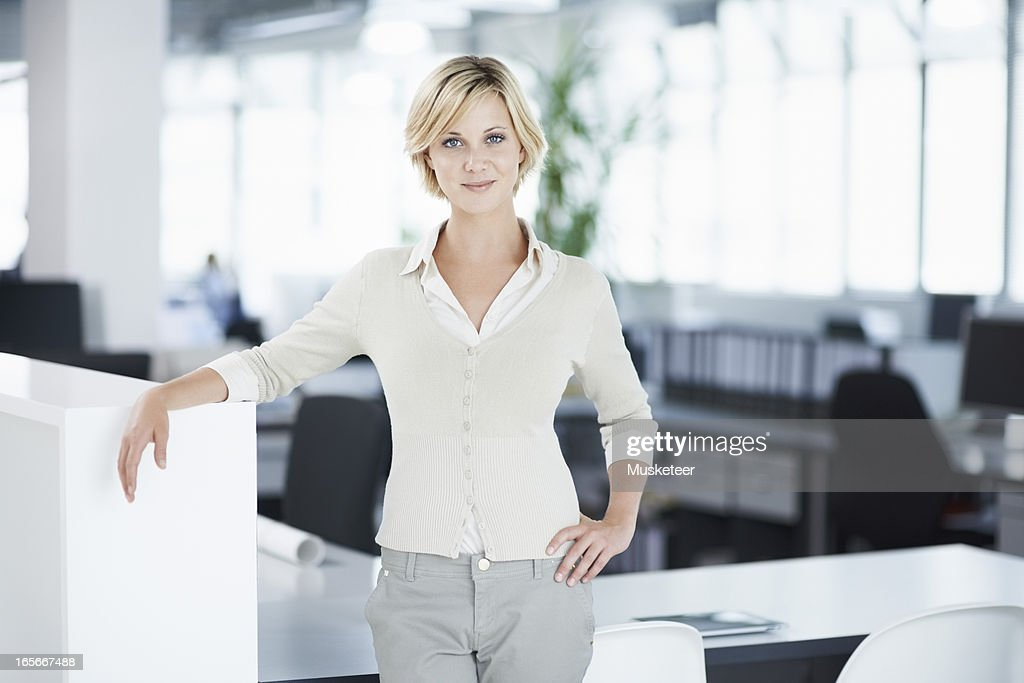 Confident woman in her office