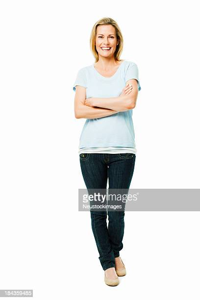Confident Woman Standing - Isolated