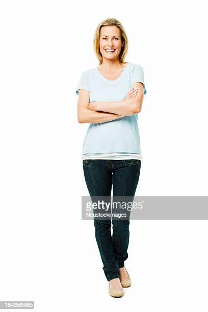Zuversichtlich Frau stehend-isoliert
