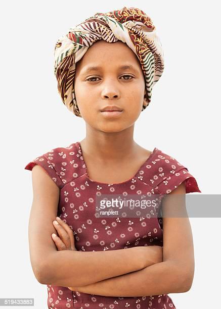 Zuversichtlich junge Afrikanische Mädchen