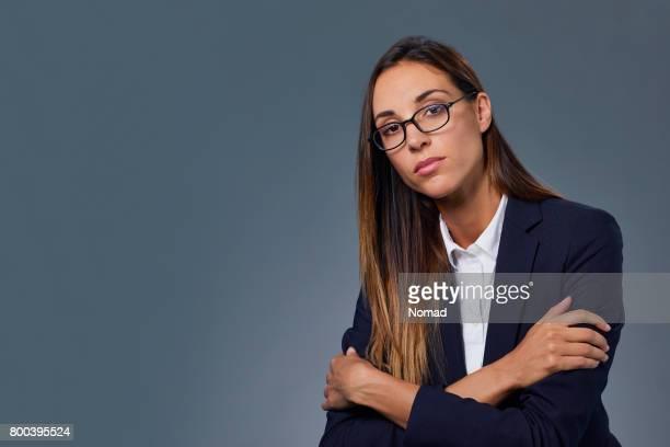 Schöne zuversichtlich business Frau