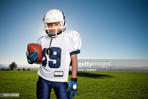 Confident Young Football Player Portrait