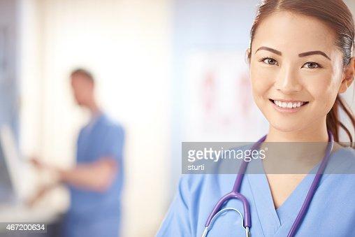confident young smiling nurse