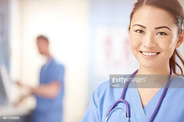 confident young smiling nurse