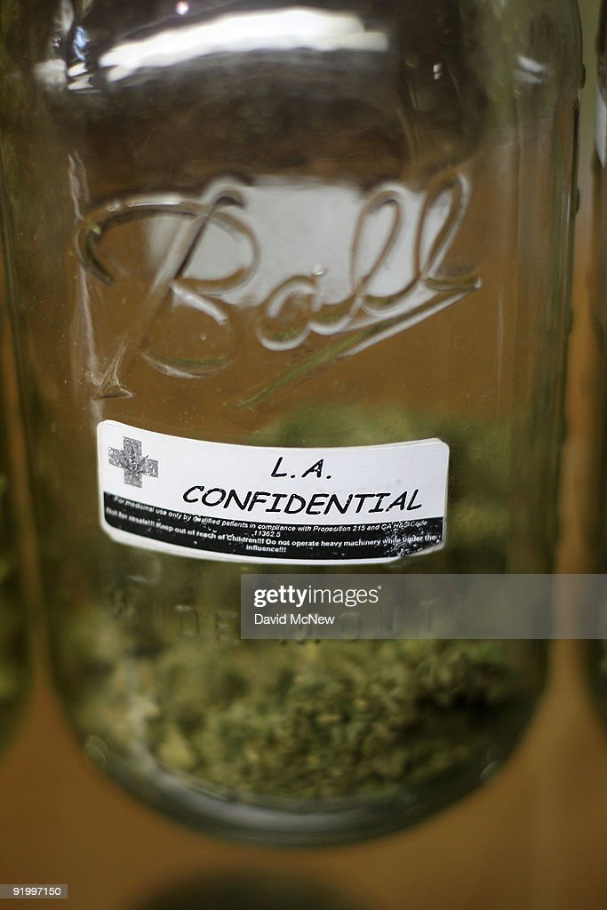 L.A. Confidential is one of several types of marijuana on display at Private Organic Therapy (P.O.T.), a non-profit co-operative medical marijuana dispensary, on October 19, 2009 in Los Angeles, California. Attorney General Eric Holder announced new guidelines today for federal prosecutors in states where the use of marijuana for medicinal purposes is allowed under state law. Federal prosecutors will no longer trump the state with raids on the southern California dispensaries as they had been doing, but Los Angeles County District Attorney Steve Cooley recently began a crackdown campaign that will include raids against the facilities. Cooley maintains that virtually all marijuana dispensaries are in violation of the law because they profit from their product. The city of LA has been slow to come to agreement on how to regulate its 800 to 1,000 dispensaries. Californians voted to allow sick people with referrals from doctors to consume cannabis with the passage of state ballot Proposition 215 in 1996 and a total of 14 states now allow the medicinal use of marijuana.