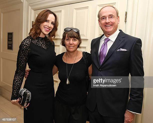 LA Confidential Publisher Alison Miller artist Liz Craft and Merrill Lynch's Stephen Maguire attend LA Confidential and Ballroom Marfa Honoring LA's...