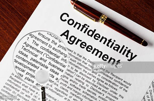 A confidentiality agreement with multiple words magnifies