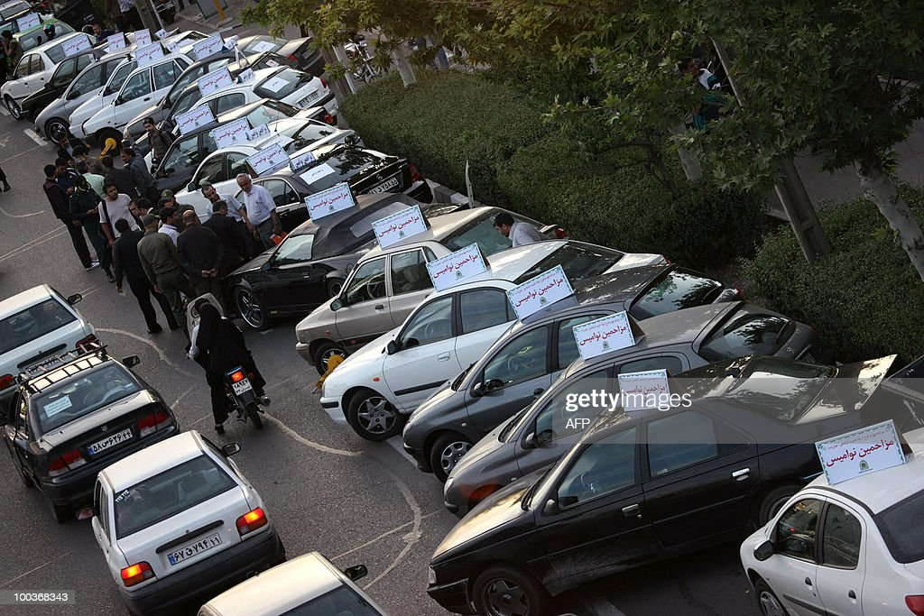 S EDITORIAL CONTENT, DATE AND LOCATION WHICH CANNOT BE INDEPENDENTLY VERIFIED == Confiscated cars (R) of Iranian drivers are pictured on May 22, 2010 in Tehran. Iranian police launched a crackdown on irreverent social behaviour, seizing cars whose drivers are deemed to be harassing women, the state IRNA news agency reported on May 24.