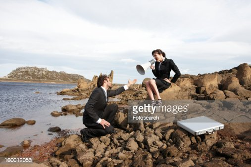 Conflict in business : Stock Photo
