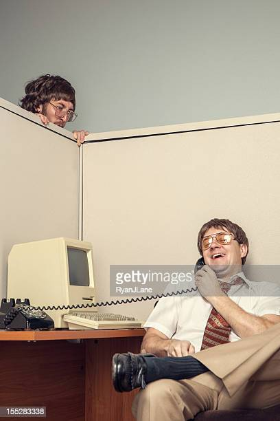 Conflict in Eighties Style Office Cubicle