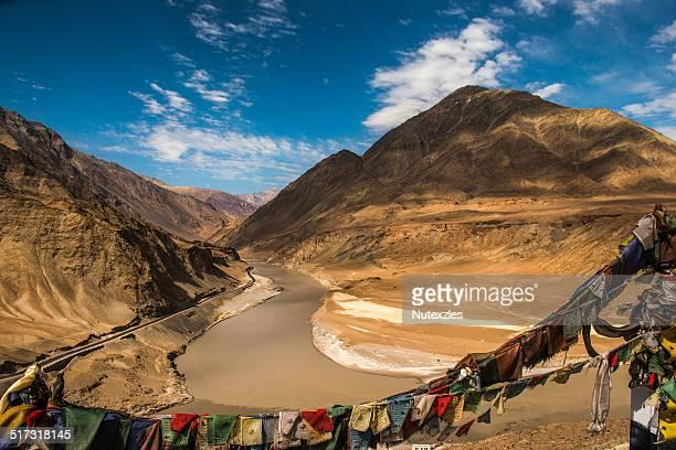Confluence of Zanskar and Indus rivers - Leh, Lada