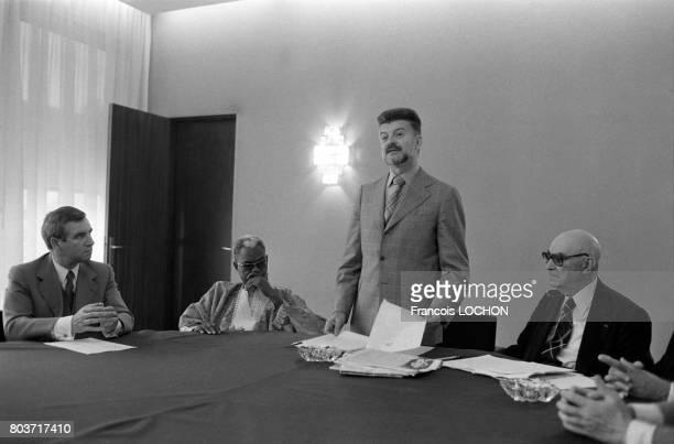 Conférence de presse de Michel Baroin Grand Maître du Grand Orient de France à Paris le 11 septembre 1978 en France