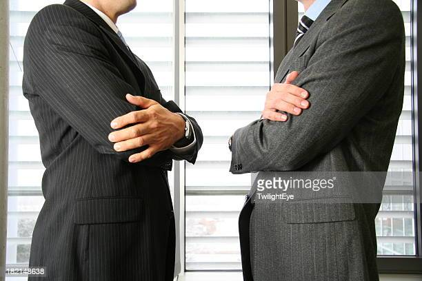 Confrontation of two businessman