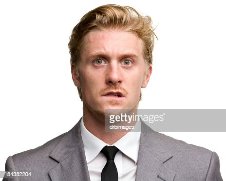 Confused middle aged male portrait