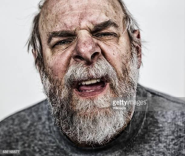 Verwirrt Senior Erwachsener Mann Nahaufnahme