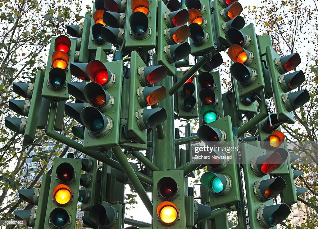 Confusing Traffic Lights : Stock Photo