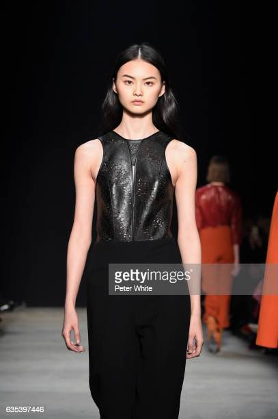 Cong He walks the runway at Narciso Rodriguez show during New York Fashion Week on on February 14 2017 in New York City
