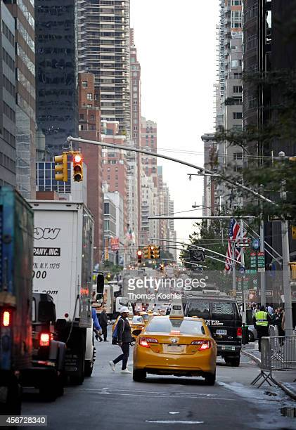 Congested streets in Manhattan during rush hour on September 24 in New York City United States Photo by Thomas Koehler/Photothek via Getty Images