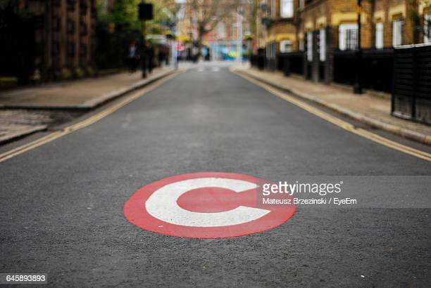 Congestion Charge Road Marking