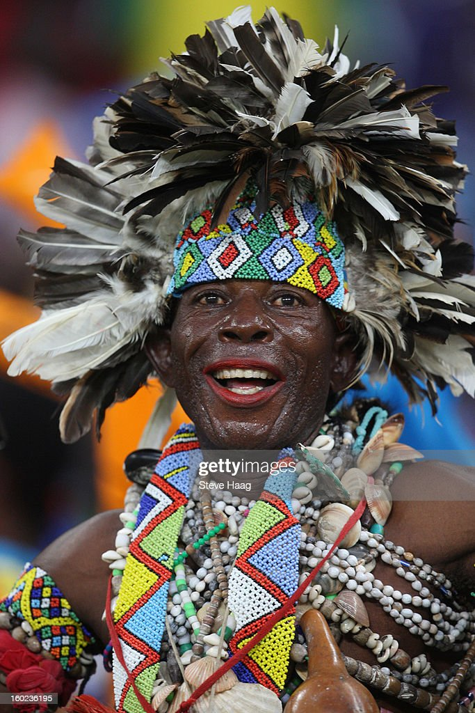 Congo DR fans during the 2013 African Cup of Nations match between Congo DR and Mali at Moses Mahbida Stadium on January 28, 2013 in Durban, South Africa.