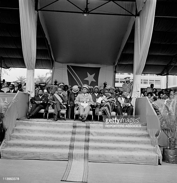 Congo First Military Parade attended by President Mobutu In Kinshasa Congo In 1966JosephDesire Mobutu attends Congo first military parade after...