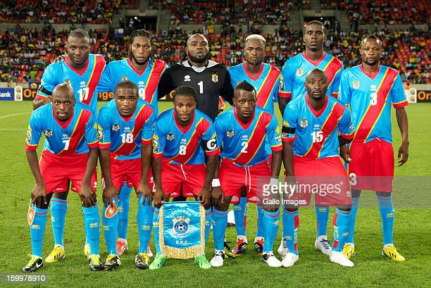 Congo players line up before the 2013 African Cup of Nations match between Niger and DR Congo at Nelson Mandela Bay Stadium on January 24 2013 in...