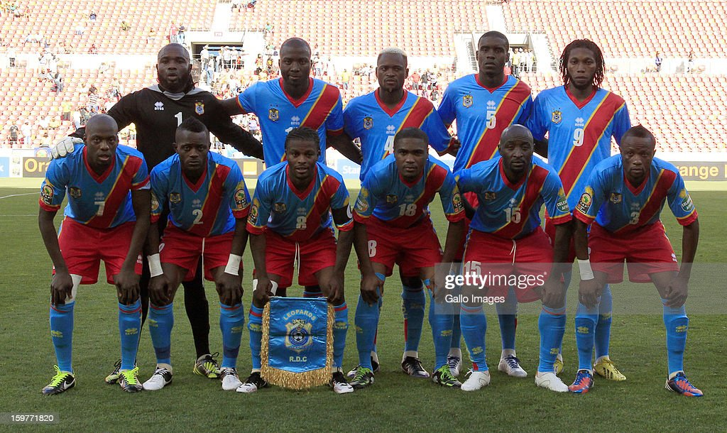 Congo players line up for a team photograph before the 2013 African Cup of Nations match between Ghana and Congo DR at Nelson Mandela Bay Stadium on January 20, 2013 in Port Elizabeth, South Africa.
