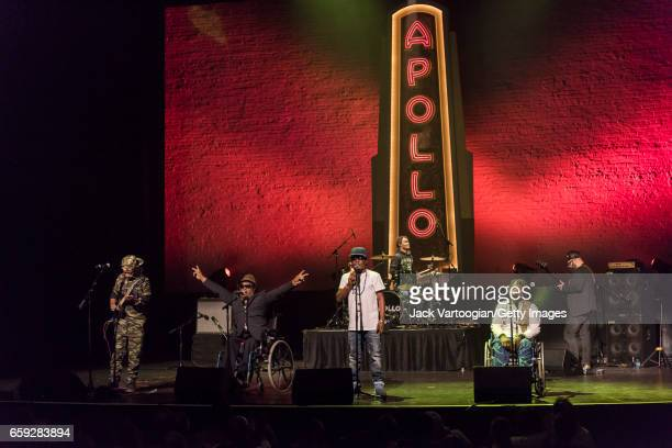 Congolese band Mbongwana Star perform during the Apollo Theater / World Music Institute's fifth annual 'Africa Now' concert New York New York March...