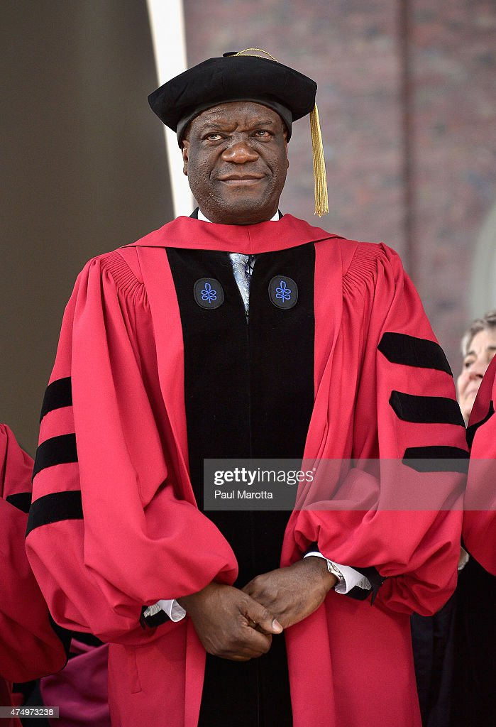 Congolese Doctor <a gi-track='captionPersonalityLinkClicked' href=/galleries/search?phrase=Denis+Mukwege&family=editorial&specificpeople=5127888 ng-click='$event.stopPropagation()'>Denis Mukwege</a> receives an Honorary Doctor of Science Degree at Harvard University 2015 Commencement at Harvard University on May 28, 2015 in Cambridge, Massachusetts.