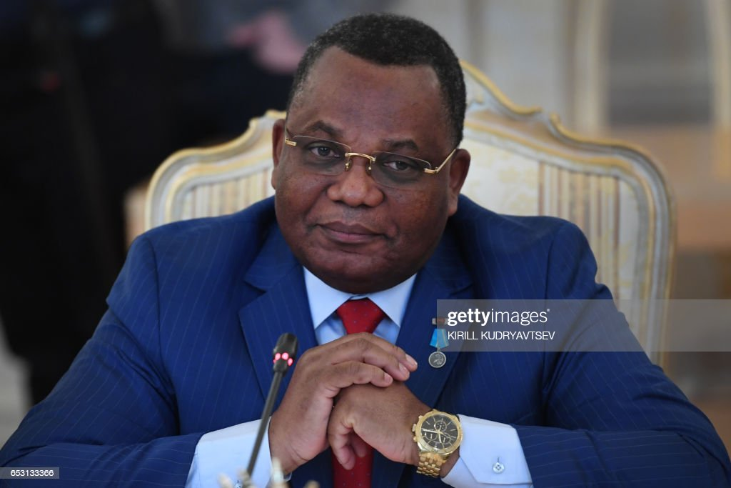Congolese Foreign Minister Jean-Claude Gakosso looks on during a meeting with his Russian counterpart in Moscow on March 14, 2017. / AFP PHOTO / Kirill KUDRYAVTSEV
