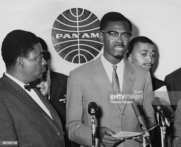 Congolese Prime Minister Patrice Lumumba at John F Kennedy International Airport New York 2nd August 1960 Before leaving for London Lumumba made a...