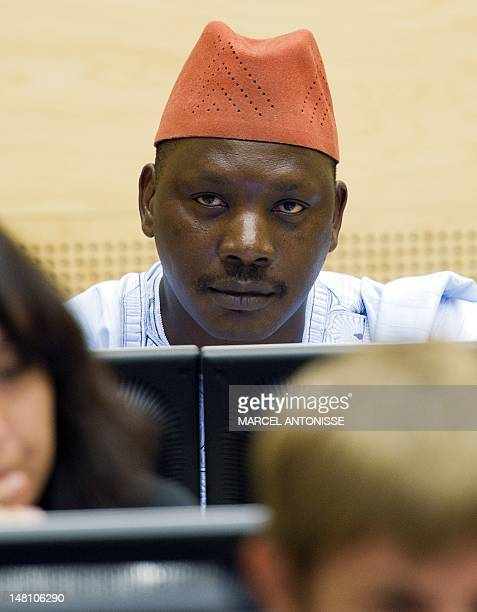 Congolese warlord Thomas Lubanga listens to the verdict at the International Criminal Court in The Hague October 8 2010 Lubanga an ethnic Hema is...