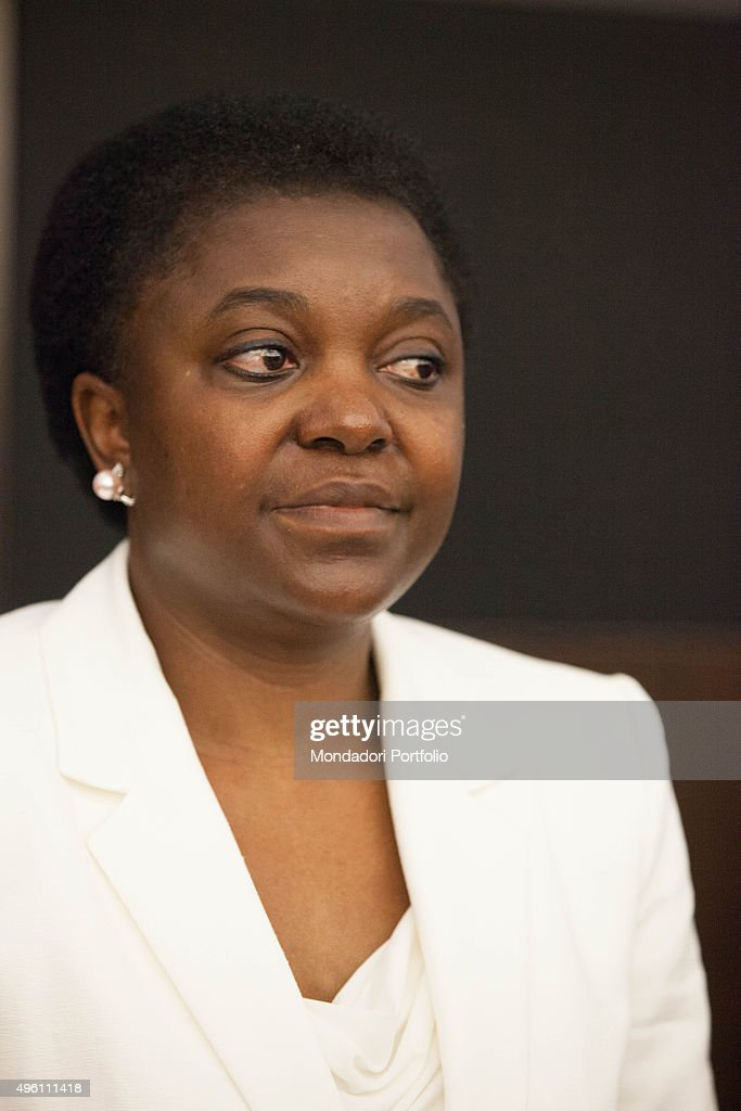 Congolese-born Italian politician and Minister of Integration <a gi-track='captionPersonalityLinkClicked' href=/galleries/search?phrase=C%C3%A9cile+Kyenge&family=editorial&specificpeople=10908084 ng-click='$event.stopPropagation()'>Cécile Kyenge</a> (Kashetu Kyenge) posing for a photo shooting in the offices of Ministry of Integration of the Italian Republic. Rome, Italy. June 2013