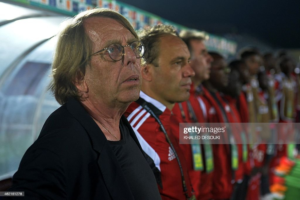 Congo's coach <a gi-track='captionPersonalityLinkClicked' href=/galleries/search?phrase=Claude+Le+Roy&family=editorial&specificpeople=790794 ng-click='$event.stopPropagation()'>Claude Le Roy</a> attends the 2015 African Cup of Nations group A football match between Congo and Burkina Faso in Ebebiyin on January 25, 2015. AFP PHOTO / KHALED DESOUKI