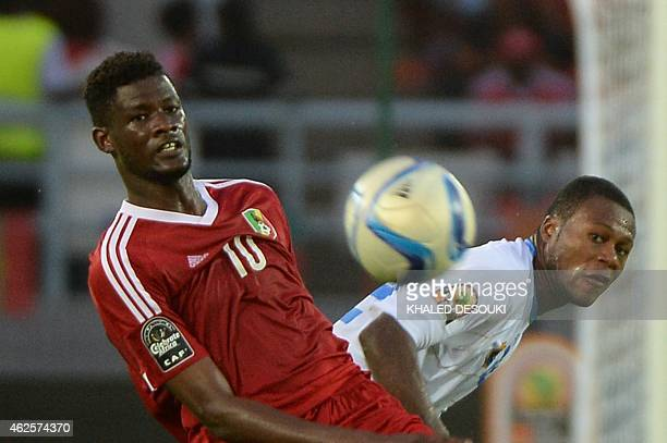 Congo's forward Ferebory Dore vies with Democratic Republic of the Congo's defender Chancel Mbemba during the 2015 African Cup of Nations quarter...