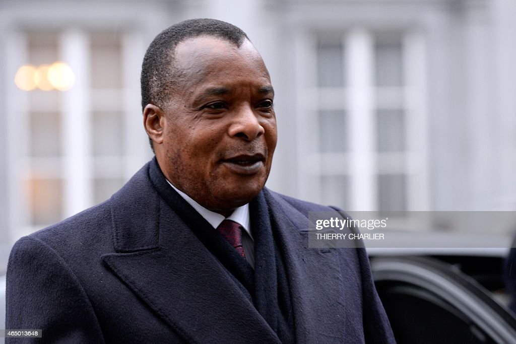 Congo's President <a gi-track='captionPersonalityLinkClicked' href=/galleries/search?phrase=Denis+Sassou+Nguesso&family=editorial&specificpeople=4126626 ng-click='$event.stopPropagation()'>Denis Sassou Nguesso</a> arrives to attend a conference on Ebola on March 3, 2015 in Brussels. Leaders of Ebola-hit countries in west Africa attend an international conference in Brussels on March 3 to mobilise a final push to end the outbreak and ensure the delivery of nearly $5 billion in aid pledges. AFP PHOTO / THIERRY CHARLIER