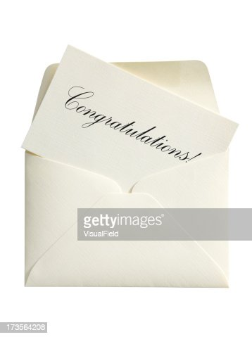 Congratulations Card & Envelope, with Clipping Path